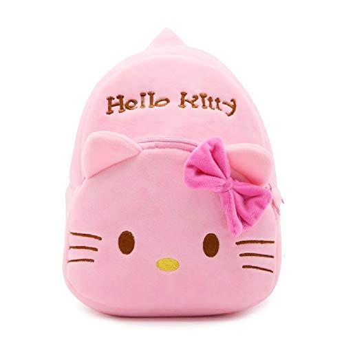 CHDJ Mini mochila de peluche para bebé de 1 a 3 años, Rosa claro Hello Kitty (Rosa) - shoulder-handbags