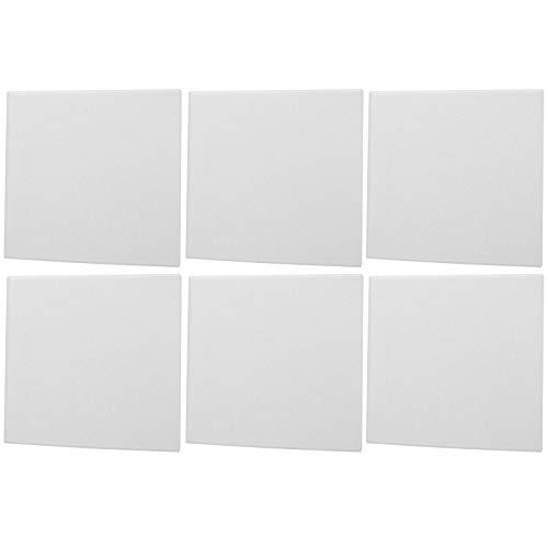 6 pannelli fonoassorbenti acustici in fibra di poliestere Pannello fonoassorbente ignifugo per studi di registrazione(bianca)