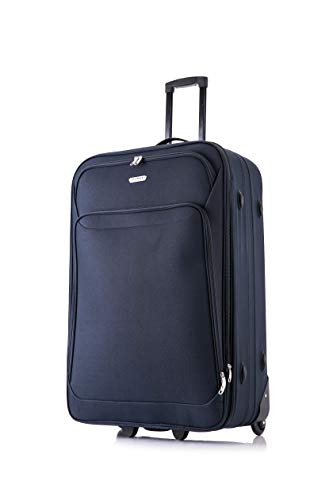 26' Large Lightweight Expandable Suitcase Luggage Case Trolley Bag Travel (Blue) …