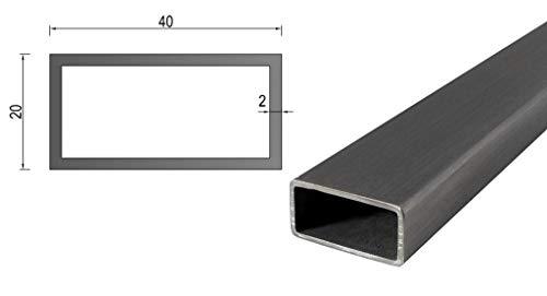Tubo cuadrado de acero inoxidable/tubo rectangular/perfil de caja en muchas dimensiones de 10 cm hasta 6 m por pieza.