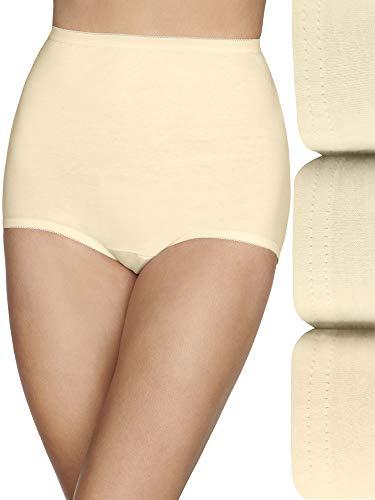 Vanity Fair Women's Lollipop Plus Size Brief Panties 15861, Elastic Leg Opening - Candleglow (3 Pack), 4X-Large (11)