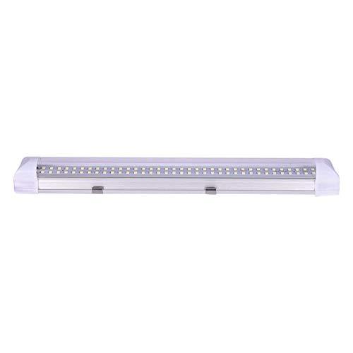Outtybrave 72 LEDs Auto Innenraumbeleuchtung Lampe Leiste Leuchtstofflampe Innenbeleuchtung DC 12V Schalter Beleuchtung für Wohnwagen Anhänger Wohnmobil PKW LKW Zubehör