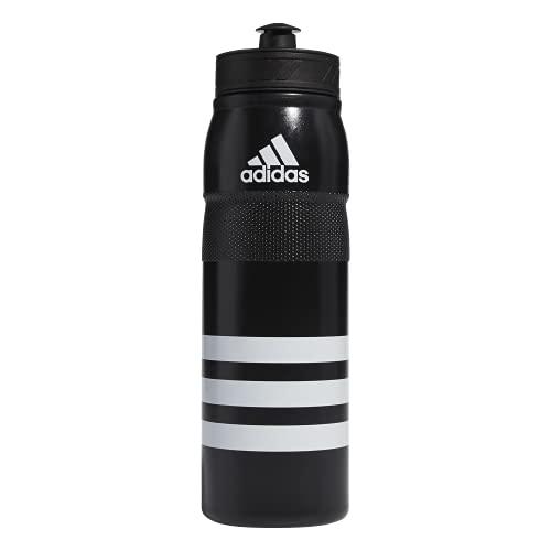 adidas Stadium 750 ML (26oz) Plastic Water Bottle,Black/ White,ONE SIZE