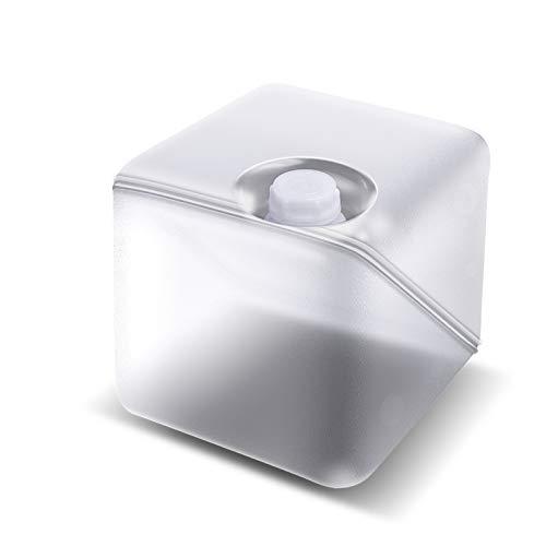 MNSSRN Bolsa de Almacenamiento de Agua al Aire Libre con Cubo de Almacenamiento de válvula, portaplín Plegable de Agua para Acampar, cucharón de Almacenamiento de Agua de peinador de PE * 5,10L