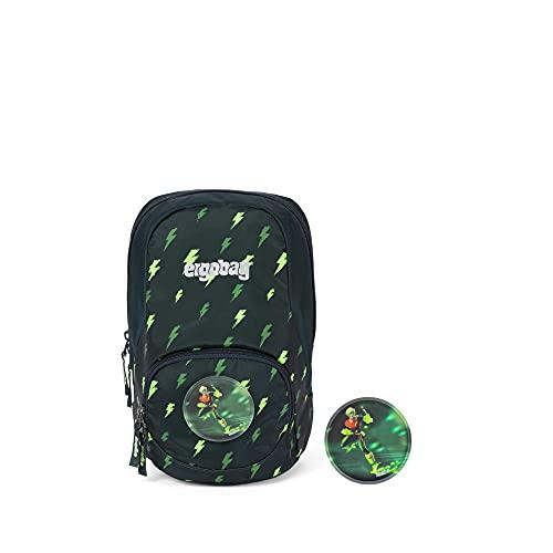 ergobag Ease Small Kids Backpack Rucksack Unisex Kinder, Unisex Kinder, Rucksack, ERG-MIS-001-9Z8, Schwarz, Grün, Blizzard, L
