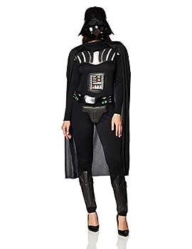 Rubie s Star Wars Darth Vader Woman s Deluxe Costume Jumpsuit Multicolor Medium