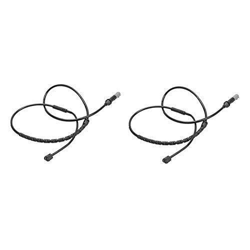 FANGSHUILIN Kit de sensor de desgaste del desgaste de la almohadilla de freno delantera y trasera Ajuste para BMW E70, E71 E72, X5, X6 Accesorios de sensor de desgaste de freno ( Color : Black )
