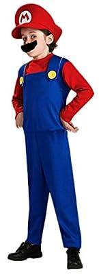 Ugoccam Super Brothers Halloween Kids Cosplay Costume Mario Brothers Kids Red Medium from Ugoccam