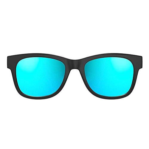 VOCALSKULL Gafas De Sol Azules Con Bluetooth para Hombres Auriculares De Conducción ósea Altavoces De Audio Inalámbricos Auriculares Con Micrófono Marco Esmerilado