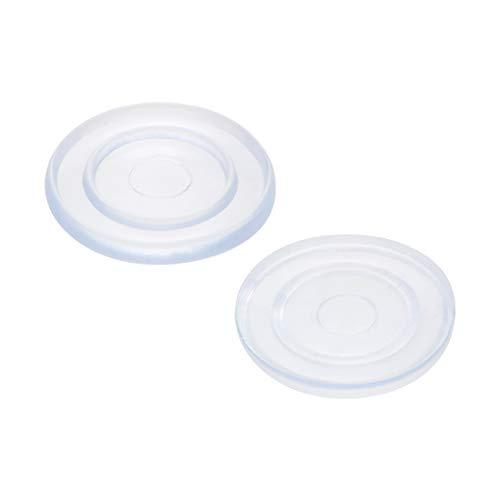 sourcing map 20Stk Silikon Stoßfänger Zylindrische Pads für Glas Tischplatte 18mm x 2mm