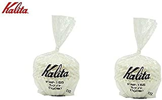 2 X Kalita: Wave Series Wave Filter 155 [1-2 persons] White , 100 sheets # 22213 (Japan Import)