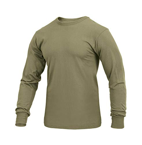 Rothco Long Sleeve Solid T-Shirt, AR 670-1 Coyote Brown, Small