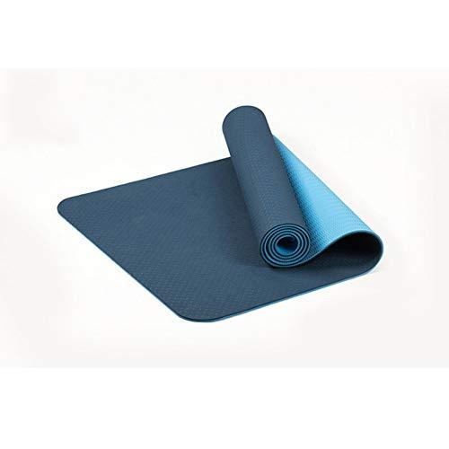 HYTGFR 6Mm anti-slip Elastische Yoga Mat Voor Beginner Milieu Fitness Lamineren Multi kleuren Tapijt Fitnessruimte Fitnessmatten