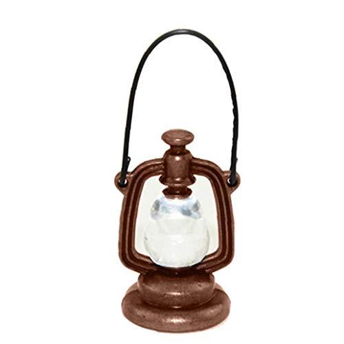 MICHAELA BLAKE Luz de la Tabla de la Vendimia del Paisaje en Miniatura, la Linterna de la muñeca de la casa de la lámpara Mini Light Metal Vendimia de los Accesorios para la decoración del Dollhouse
