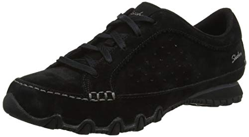 Skechers Bikers-CONTAINED 44703, Mocasines para Mujer, Negro (Black Bl