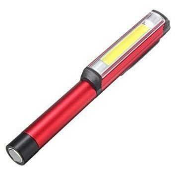 Linterna magnética de la antorcha del trabajo de la lámpara del clip de la pluma del bolsillo de 3W LED