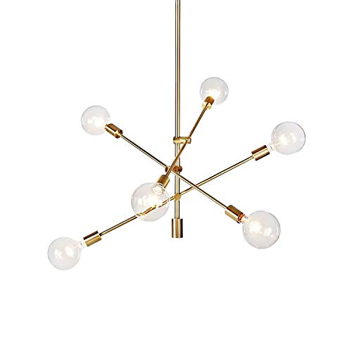 Hobaca® Nordic E27 Postmodern Simple Gold Molecule Moderne Pendelleuchten LED Hängelampe Leuchten Cafe Restaurant Wohnzimmer Dekoration Beleuchtung [Energieklasse A +++]