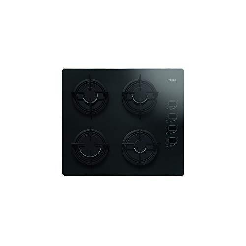 Faure FGO62414BA plaque - plaques (Intégré, Gaz, Verre, Noir, acier émaillé, Rotatif)