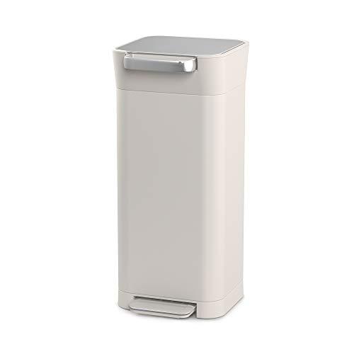 Joseph Joseph - Compactor de Basura de Titanio Inteligente con Capacidad para hasta 60 L después del Compacto, Acero Inoxidable, ABS, PP, Piedra, 20 L