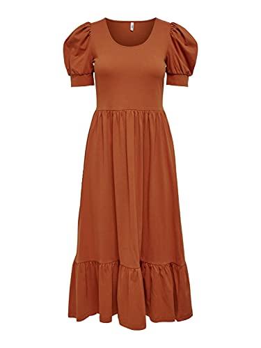 Only ONLMAY Life S/S Puff Dress JRS Vestido, Especias De Arabia, M...