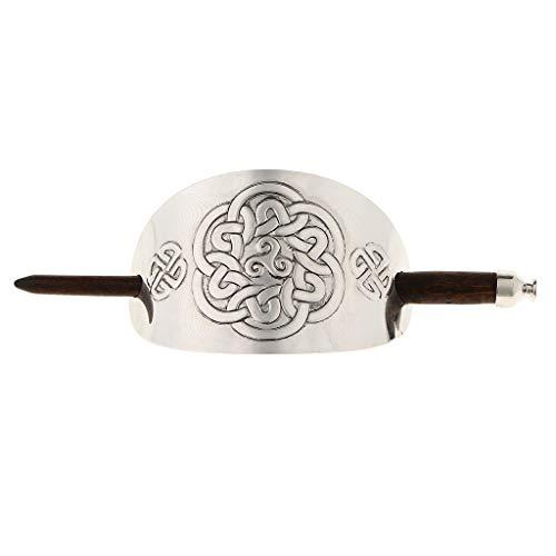 Geschnitzte Haarspange Haarclip mit Stab für Dekoration von Haar, Haarschmuck für Frauen Mädchen - 09
