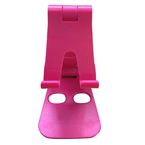 KingbeefLIU Soporte para Teléfono Soporte para Teléfono Móvil Universal Plegable Portátil Soporte De Mesa De Escritorio Soporte Rosa Roja