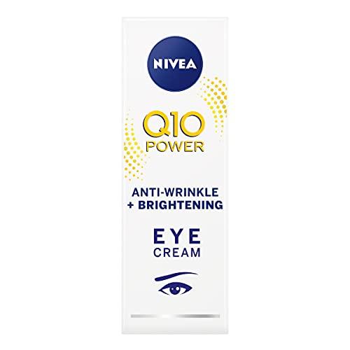 NIVEA Q10 Power Anti-Aging Augencreme mit Anti-Falten Straffende Kraft (15ml), Augencreme für Linien und Falten und Augenringe, kraftvolle Augencreme