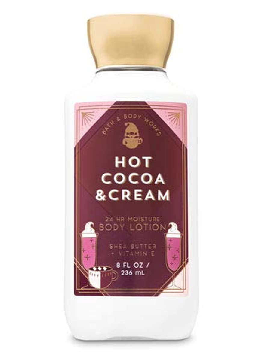 ボウリング世界的に起きろ【Bath&Body Works/バス&ボディワークス】 ボディローション ホットココア&クリーム Super Smooth Body Lotion Hot Cocoa & Cream 8 fl oz / 236 mL [並行輸入品]