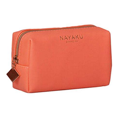 Style coréen Sac cas cosmétique de maquillage waterproof Beauty Case Orange