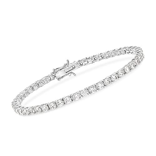Ross-Simons 5.00 ct. t.w. CZ Tennis Bracelet in Sterling Silver. 7 inches