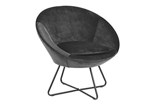 PKline stoel Cenna donkergrijs zwart gestoffeerde stoel woonkamer clubstoel lounge