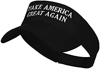 Lacesi Make America Great Again Embroidered Visor - 100% Cotton for Men and Women