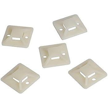 30x30mm Socket Adesiva per Fascette per cavi Socket fissaggio cuscinetti Supporto Cavo