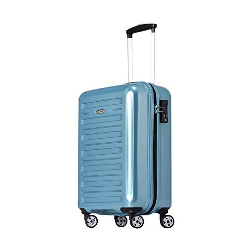 Eminent Handbagage Voyager IX (2e generatie) 55 cm 40L Lichtgewicht Polycarbonaat harde schaal 4 Stille dubbele wielen TSA-slot Turkoois