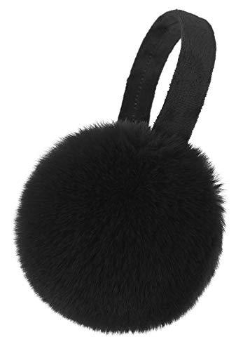 Simplicity Mens Warm Faux Furry/ Fleece Winter Earmuffs Ear Muffs, Black