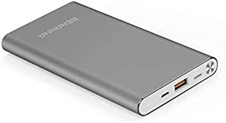 Portable Charger 10000mAh Power Bank External Battery Backup Pack BENANNA Slim Compatible iPhone X XS XR Max 8 7 6 5 Plus iPad Android Cell Phone Galaxy Note LG Gopro - Gray