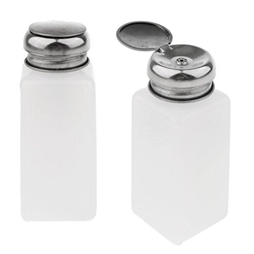 D DOLITY 2 Pcs Flacon Pompe (Vide) 100/200/250ml – Blanc - blanc, 250ml