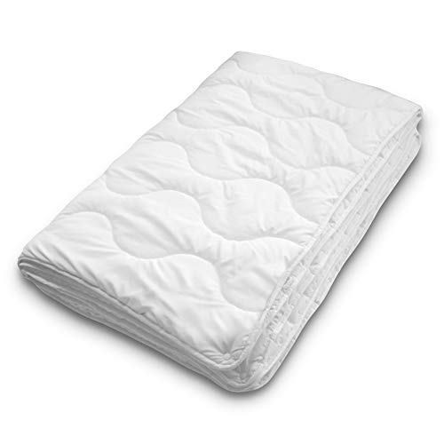 Siebenschläfer 4-Jahreszeiten Bettdecke 155x220 cm - bestehend aus Zwei zusammengeknöpften Steppdecken - adaptierbare Decke für Sommer und Winter (155 x 220 cm - 4 Jahreszeiten Bettdecke)
