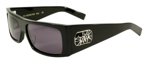 Black Flys Fly Detector Sunglasses, Shiny Black with Smoke Lenses