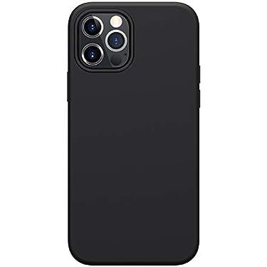 "Nillkin Case for Apple iPhone 12 / Apple iPhone 12 Pro (6.1"" Inch) Flex Pure Case Liquid Silicon Finish Anti Finger Print with Inner Microfibre Black Color"