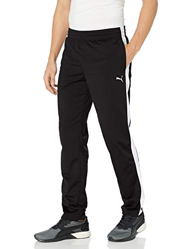 PUMA Men's Contrast Pants, Black White, L