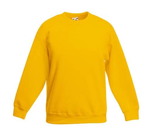 Fruit of the Loom, Kinder-Sweatshirt Gr. 9 nach 11 Jahre, sonnenblume