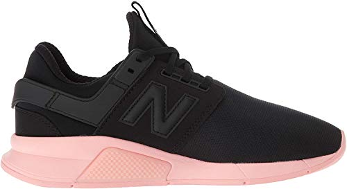 New Balance 247v2 - Sneaker da donna, Nero (Nero/Rosa Himalaya.), 42.5 EU