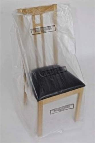 Phoenix Supplies Pack of 8 polythene dining chair dust cover protection storage bags
