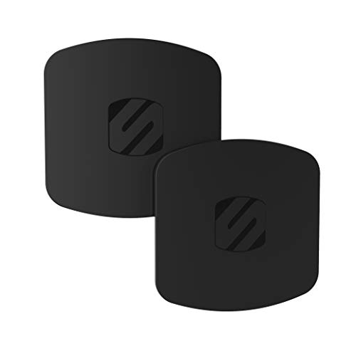 Scosche MPLT44THK2-BP0 MagicPlate Thick Magnetic Mount Replacement Plate Kit in Black