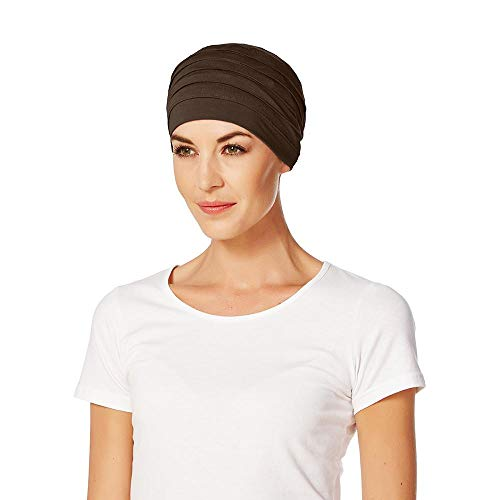 Christine Headwear Gorro oncológico Yoga con bambú hipoalergenico (marrón Oscuro)