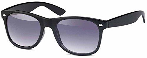 MOKIES MOKIES Unisex Sonnenbrillen - UV400 Filterkategorie 3 CE Kennzeichnung - Polycarbonat - 104 Grau verlaufend