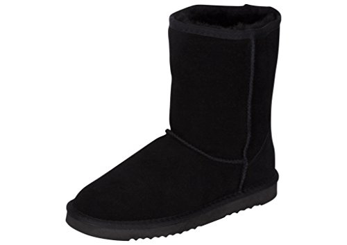 Kemi Women's Bella Classic Short Winter Boots - Suede Ladies Winter Snow Boots (8 B(M US, Black)