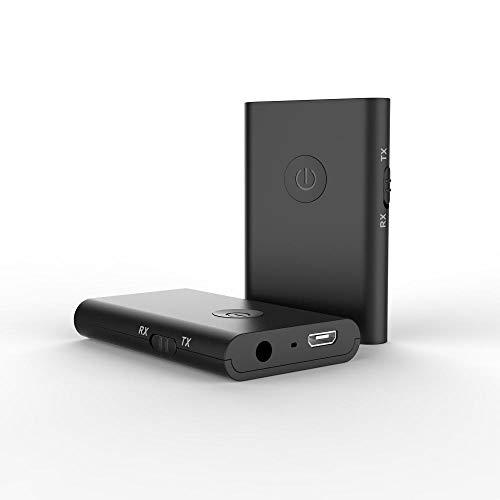 ZENWEN Bluetooth-Autoradio Bluetooth Sender All-in-One Bluetooth-Stick Adapter 2 in 1 Wireless Freisprecheinrichtung tragbar für H Ome und Auto Stereo