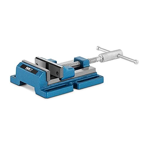 MSW Tornillo de Banco para Máquinas MSW-DV-125 (Para taladros de banco y similares, Envergadura 125 mm, Apertura de la mandíbula: 125 mm)